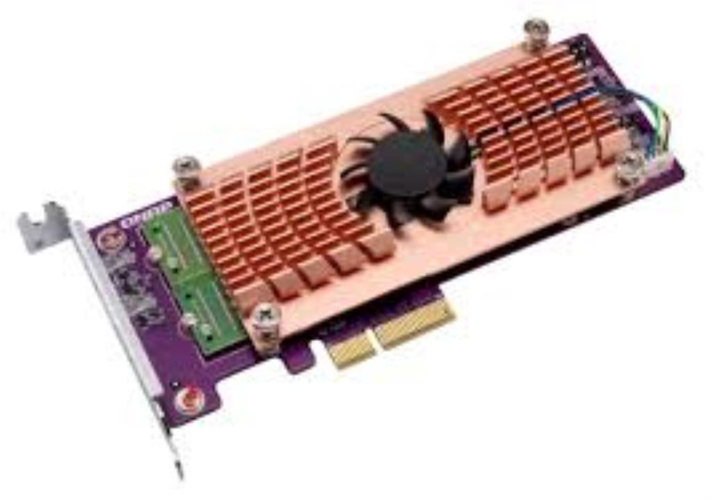 Carte d'extension Dual M.2 22110/2280 PCIe SSD (PCIe Gen2 x 4) + 1 port 10GBASE-T, Low-profile bracket