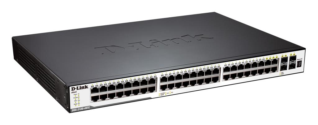Switch Administrables - D-Link xStack3120-48TC - 48 ports Gigabit dont 4 ports combo mini-GBIC/1000Base-T