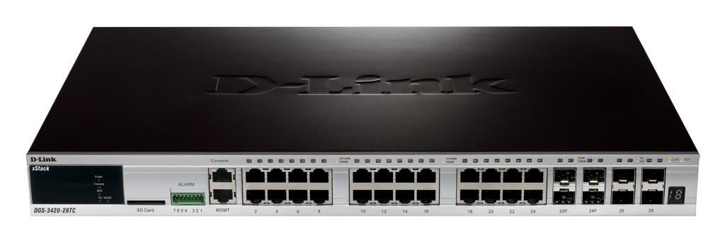 Switch Administrables - D-Link xStack3420-24TC - 24 ports Gigabit + 4 ports 10GE SFP+