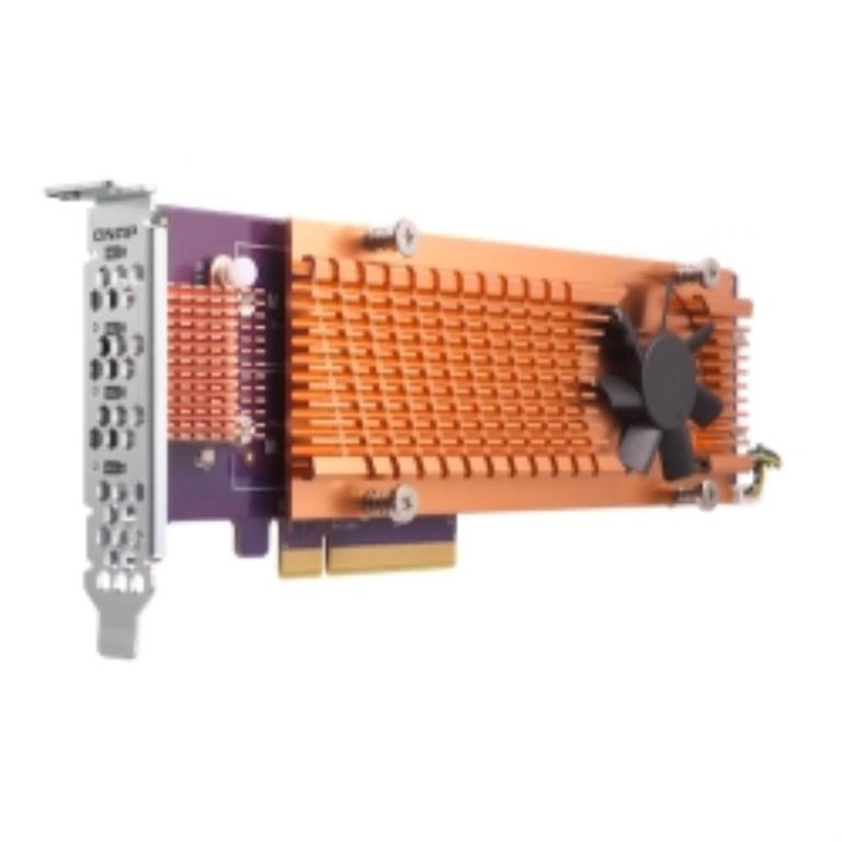 Carte d'extension Quad M.2 22110/2280 SATA SSD (PCIe Gen3 x 2), Low-profile bracket