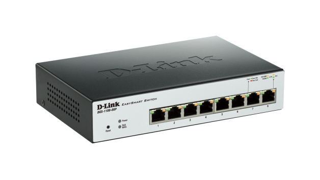 Switch Easy Smart - D-Link 8 Ports 10/100/1000Mbps PoE - Budget PoE 64w