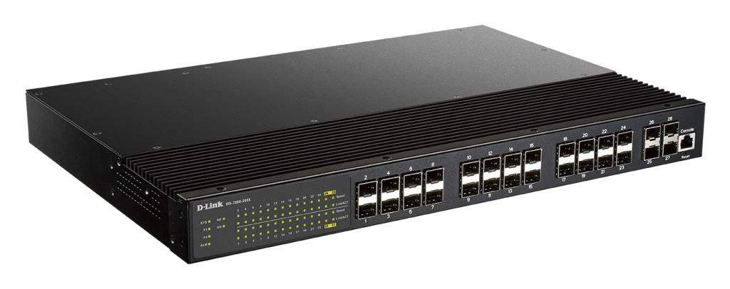 Switch Manageable L2 Industriel 24 Ports - 24 ports SFP + 4 ports SFP+ - Rackable 19''
