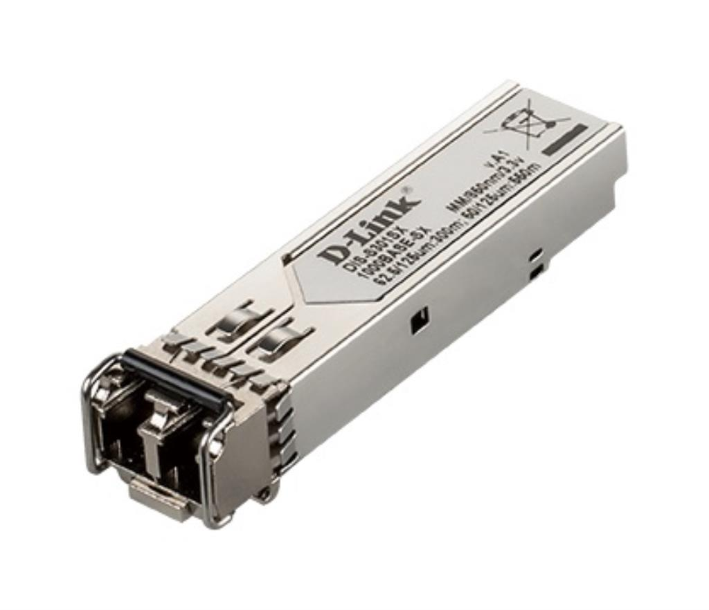 Transceiveur mini-Gbic fibre multimode SFP LC 1000Base-SX (550m) / Format Industriel T° -40° à +85°