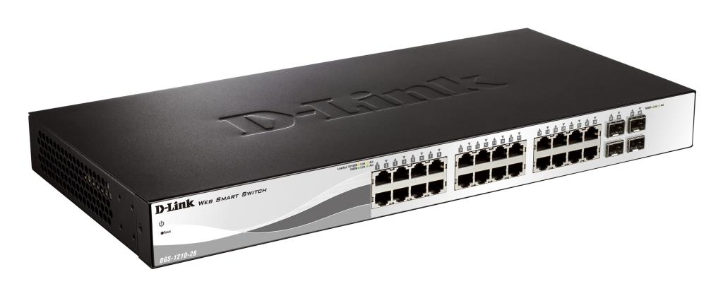 Switch Web managé - D-Link Smart+ 24 ports 10/100/1000Mbps + 4 ports SFP - Metro Ethernet