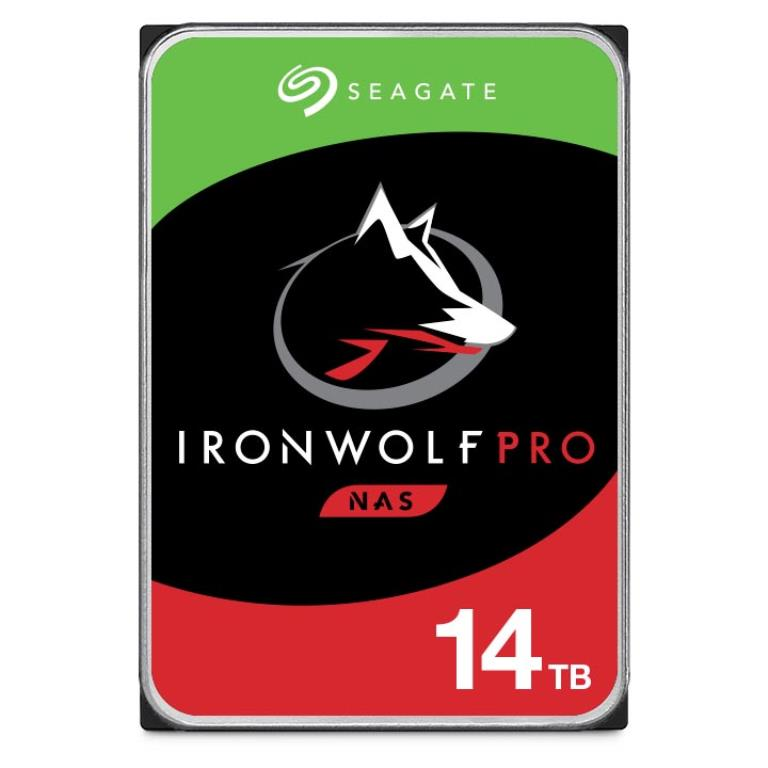 "Disque dur 3,5"" 14TB - 7200rpm - SATA 6Gbps - 256MB - Seagate IronWolf Pro - 24/7"
