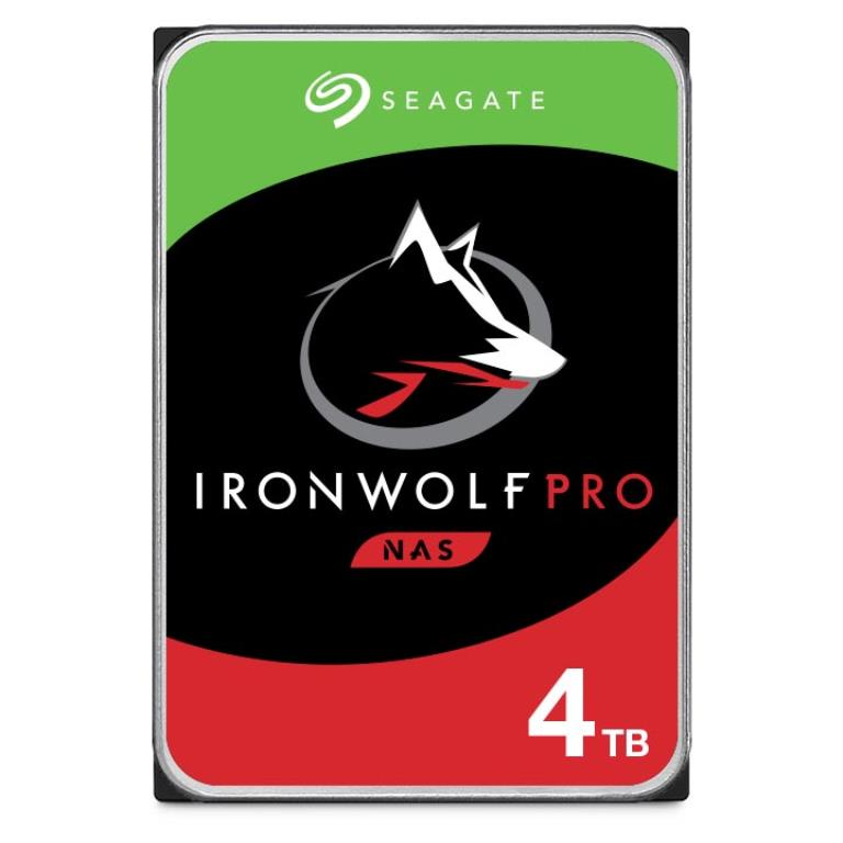 "Disque dur 3,5"" 4TB - 7200rpm - SATA 6Gbps - 128MB - Seagate IronWolf Pro - 24/7"