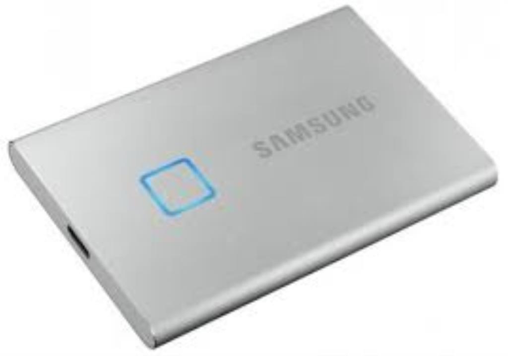 SSD externe portable - 500GB - USB 3.2 Gen 2 - Samsung T7 Touch - Argent