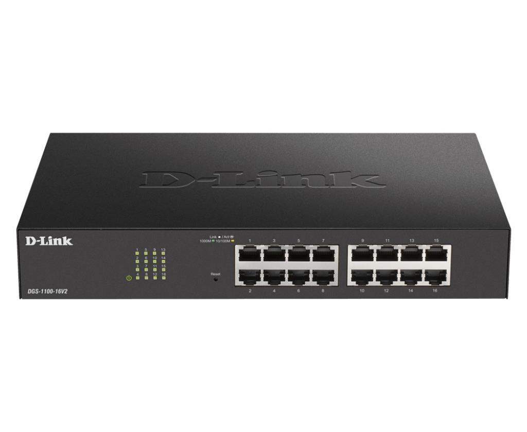 Switch Web managé - D-Link Easy Smart V2 16 ports 10/100/1000Mbps sans ventilateur