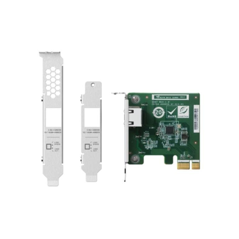 Carte Ethernet QNAP Single-port 2.5GbE (10GBASE-T) , PCIe Gen3 x4