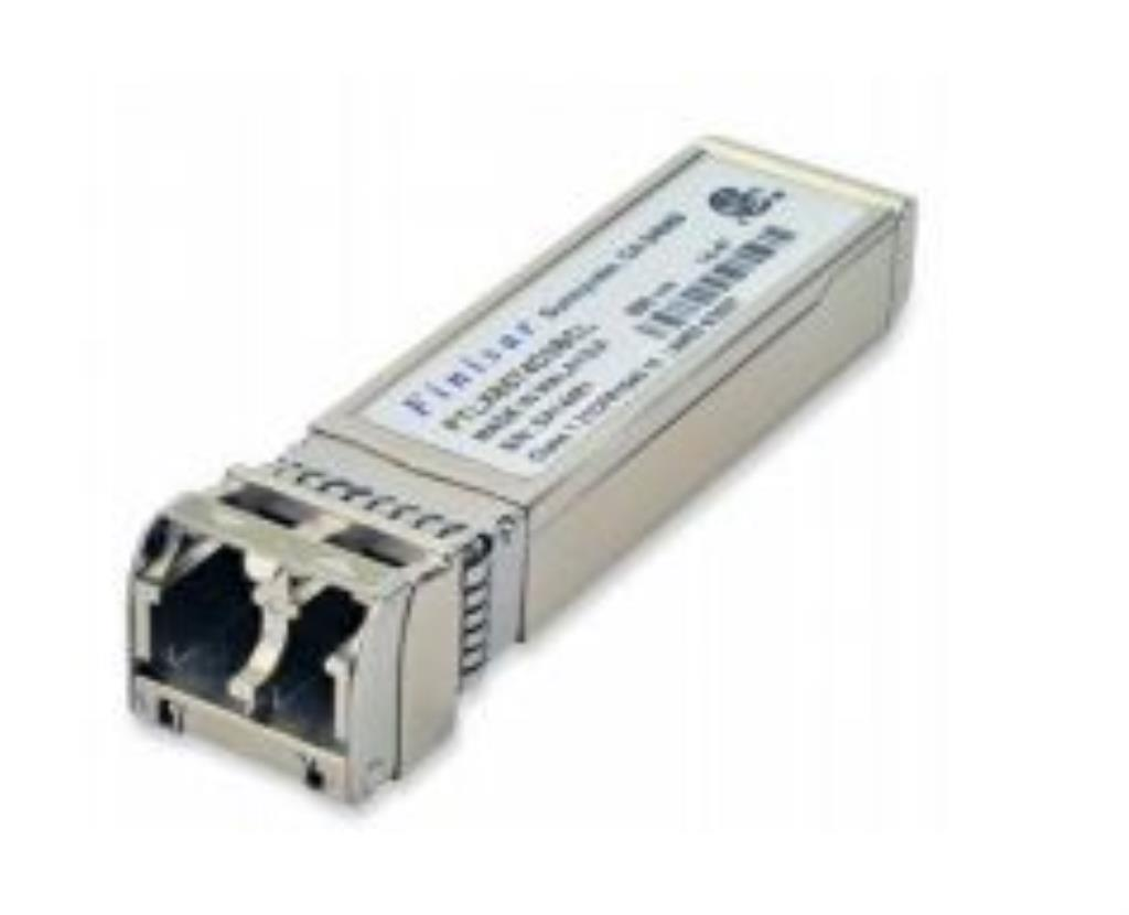 Intel coded Finisar 1/10GbE SR multimode SFP+, Transceiver, 10GBASE-SR/SW, 3.3V, 850nm VCSEL, -5°C to 70°C, 400m, INTEL E10GSFPSR compatible