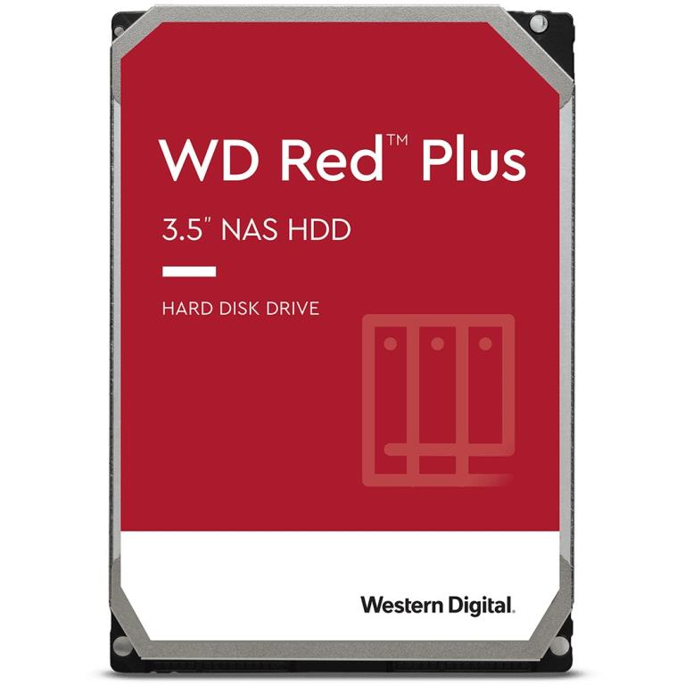 "WD Disque dur Red Plus NAS 3,5"" 2TB - 5400rpm - SATA 6Gbps - 128MB"