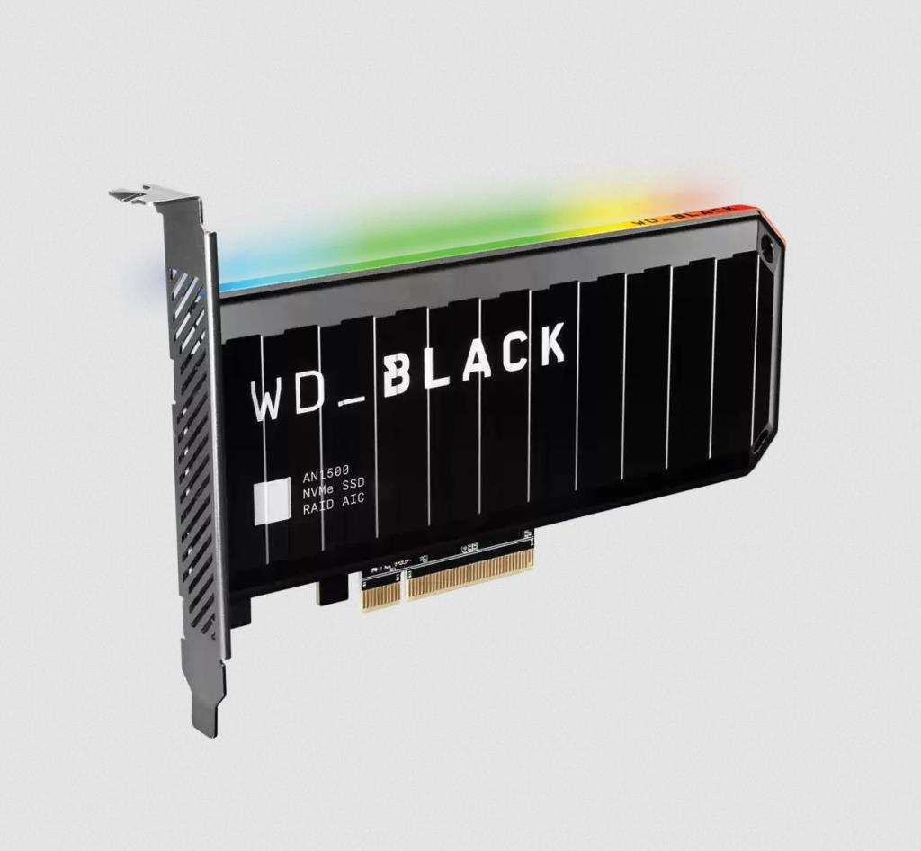 WD SSD Black AN1500 Carte d'extension 4TB - PCIe 3.0 x8 NVMe
