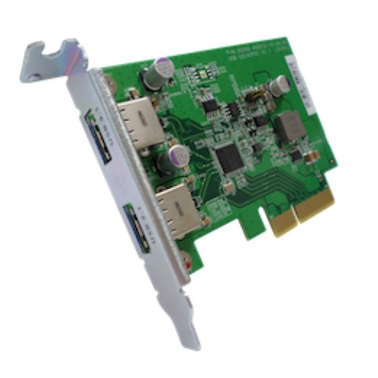 QNAP Dual-port USB 3.1 Type-A Gen 2 10Gbps PCIe card